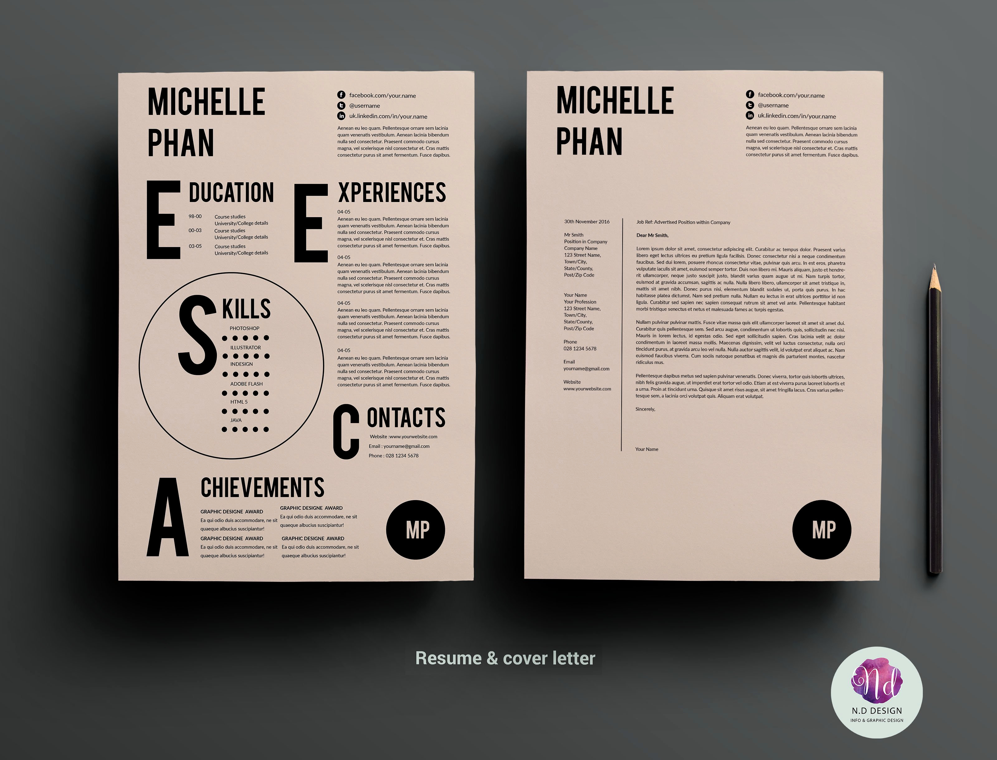 Creative Cover Letter Template New Cv Template Cover Letter Template Resume Templates