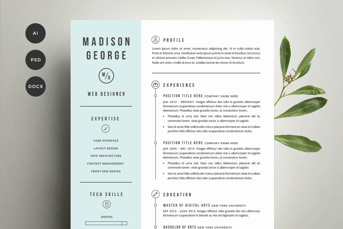 Creative Cover Letter Template New Resume & Cover Letter Template Resume Templates On