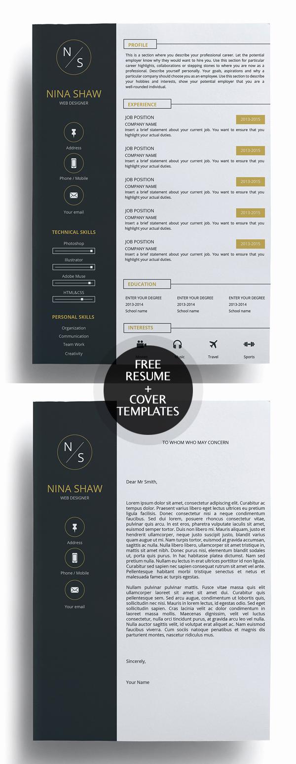 Creative Cover Letter Template Unique 23 Free Creative Resume Templates with Cover Letter