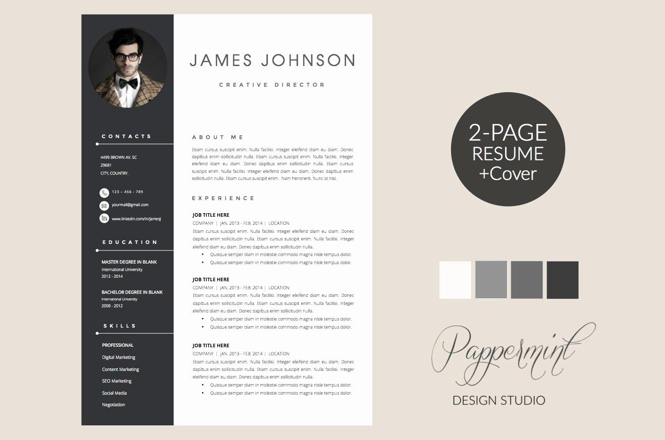 Creative Cover Letter Template Unique Resume Template Cover Letter Word Resume Templates