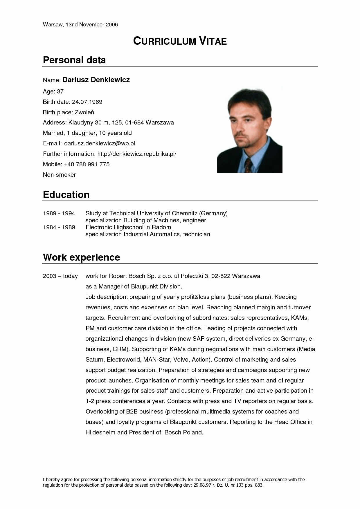 Curriculum Vitae Template Word Beautiful German Cv Template Doc