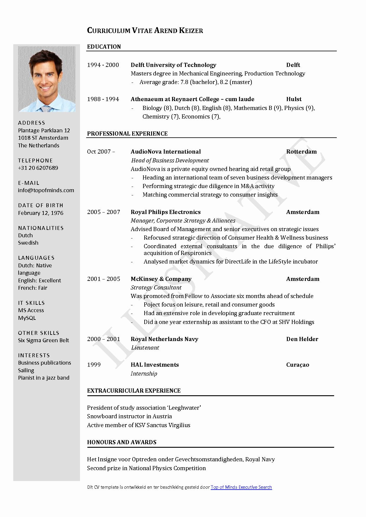 Curriculum Vitae Template Word Luxury Free Curriculum Vitae Template Word
