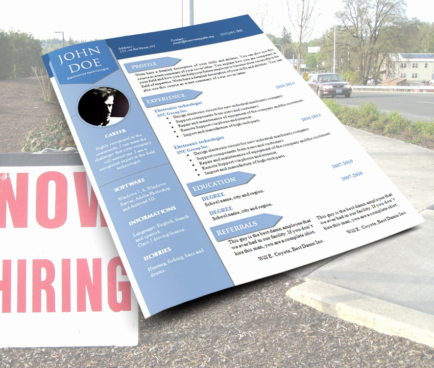 Curriculum Vitae Template Word Unique Freecvtemplate – Resume Templates In Word format