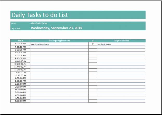 checklist template