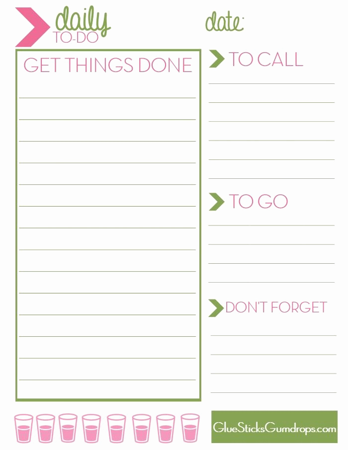 Daily to Do List Template Unique Free Printable Daily to Do List Mine