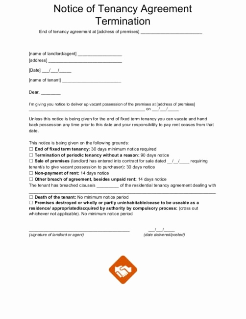 End Of Lease Letter Elegant End Tenancy Letter Template From Landlord