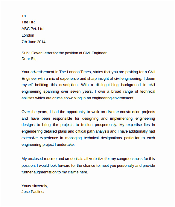 Engineering Internship Cover Letter Inspirational 12 Education Cover Letter Examples Download for Free