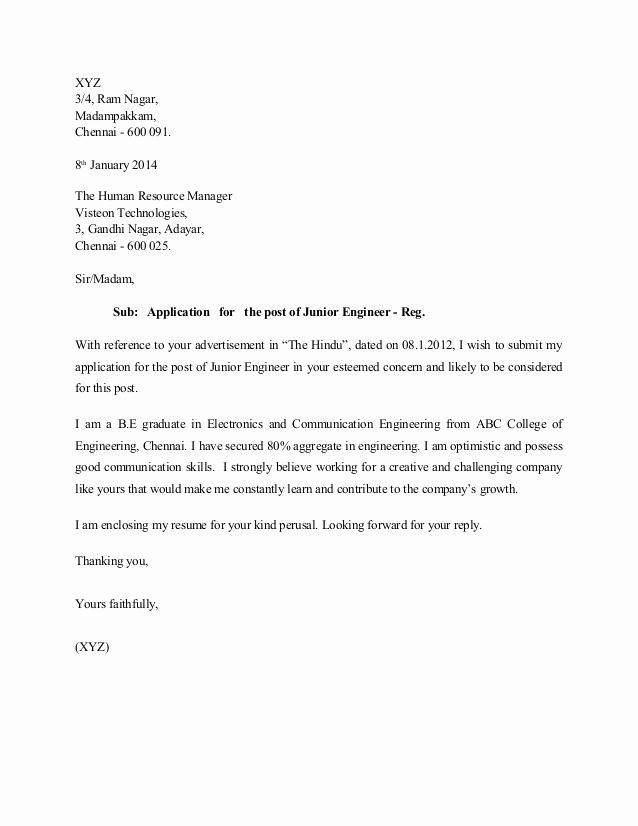 Engineering Internship Cover Letter Lovely Sample Cover Letter for Mechanical Engineering Internship