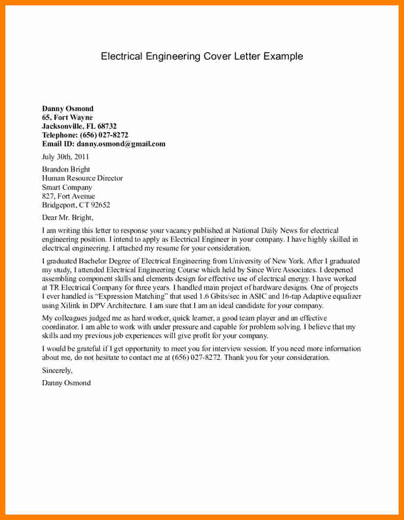 Engineering Internship Cover Letter Inspirational Civil ...