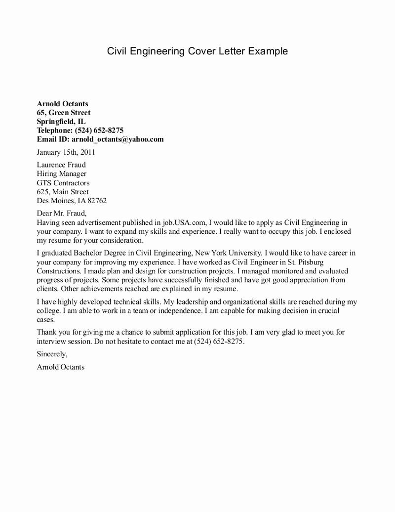 Engineering Internship Cover Letter Unique Best Cover Letter for Engineering Internship Psa Has A