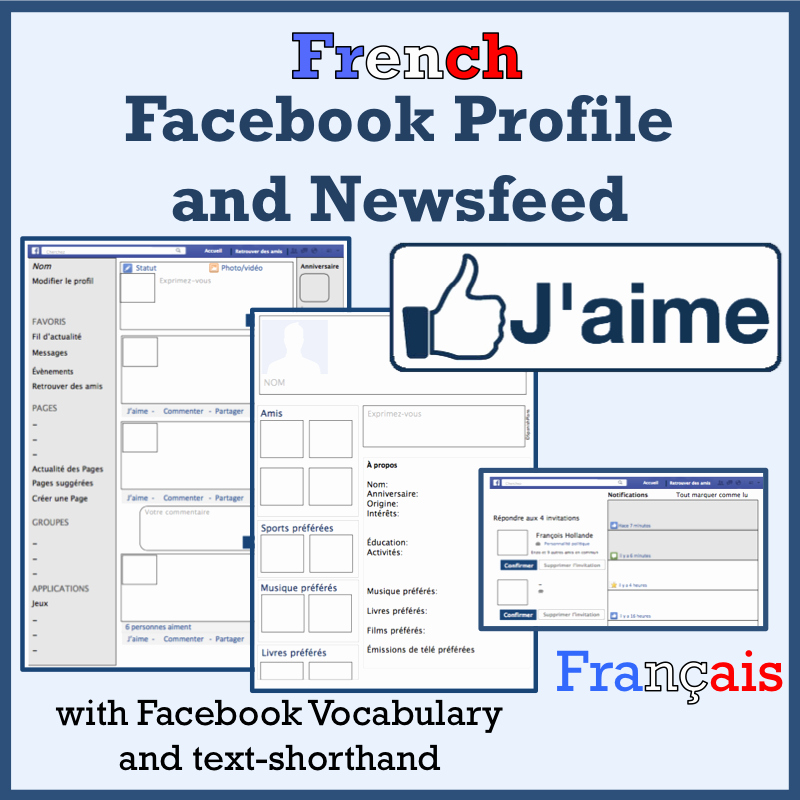 Facebook Template for Students Best Of French
