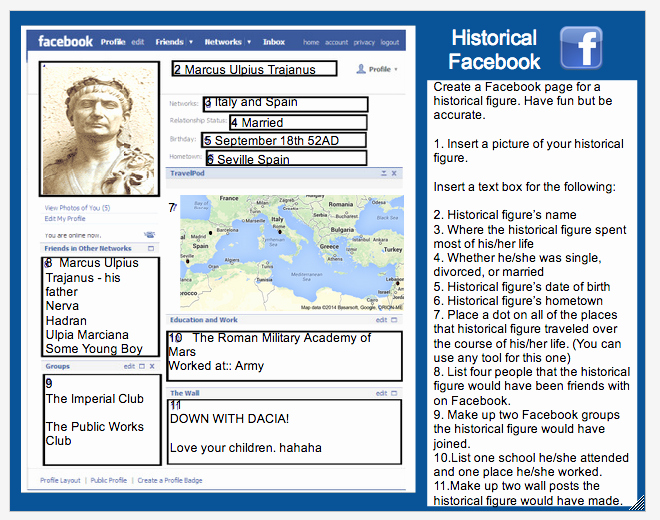 Facebook Template for Students Fresh Integrated Tech Historical Project