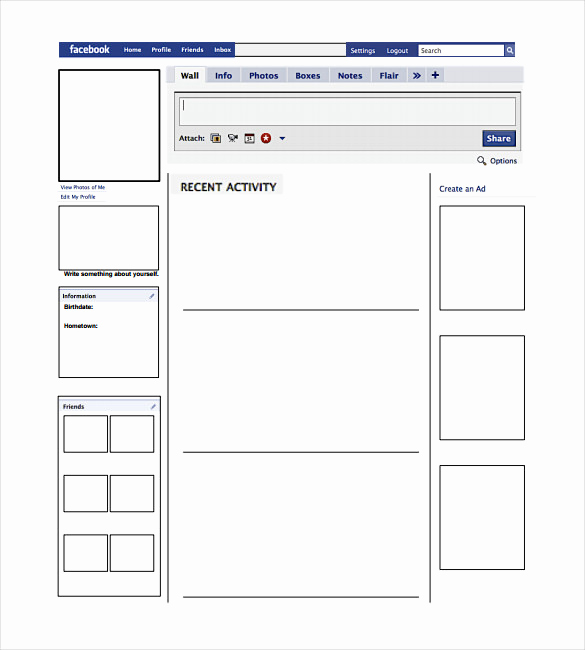 Facebook Template for Students Unique Blank Template – 11 Free Word Ppt & Psd