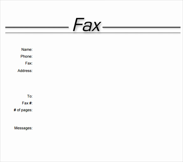Fax Cover Sheet Template Word Elegant Blank Fax Cover Sheet Sample Letsridenow