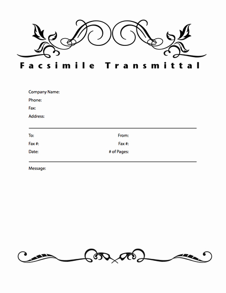 Fax Cover Sheet Template Word Inspirational Fice Fax Cover Sheet Template
