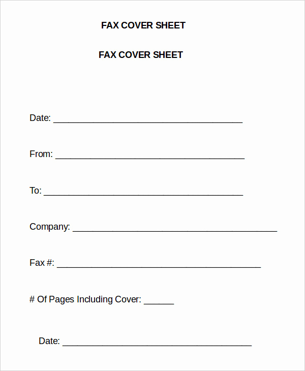 Fax Cover Sheet Template Word Inspirational Word Fax Template 12 Free Word Documents Download