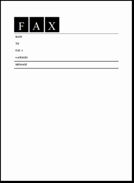 Fax Cover Sheet Template Word Lovely 6 Fax Cover Sheet Templates Excel Pdf formats