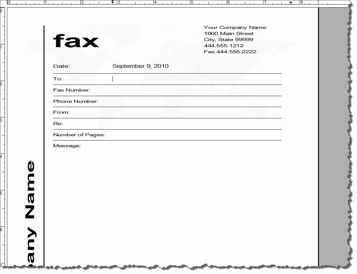 Fax Cover Sheet Template Word Lovely Adobe Framemaker 9 Default Document Templates