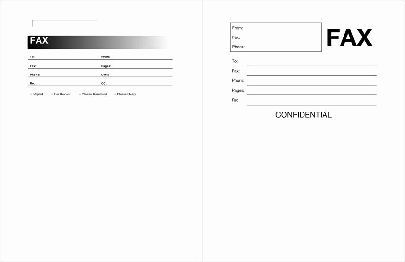 Fax Cover Sheet Template Word New Free Fax Cover Sheet Template format Example Pdf Printable