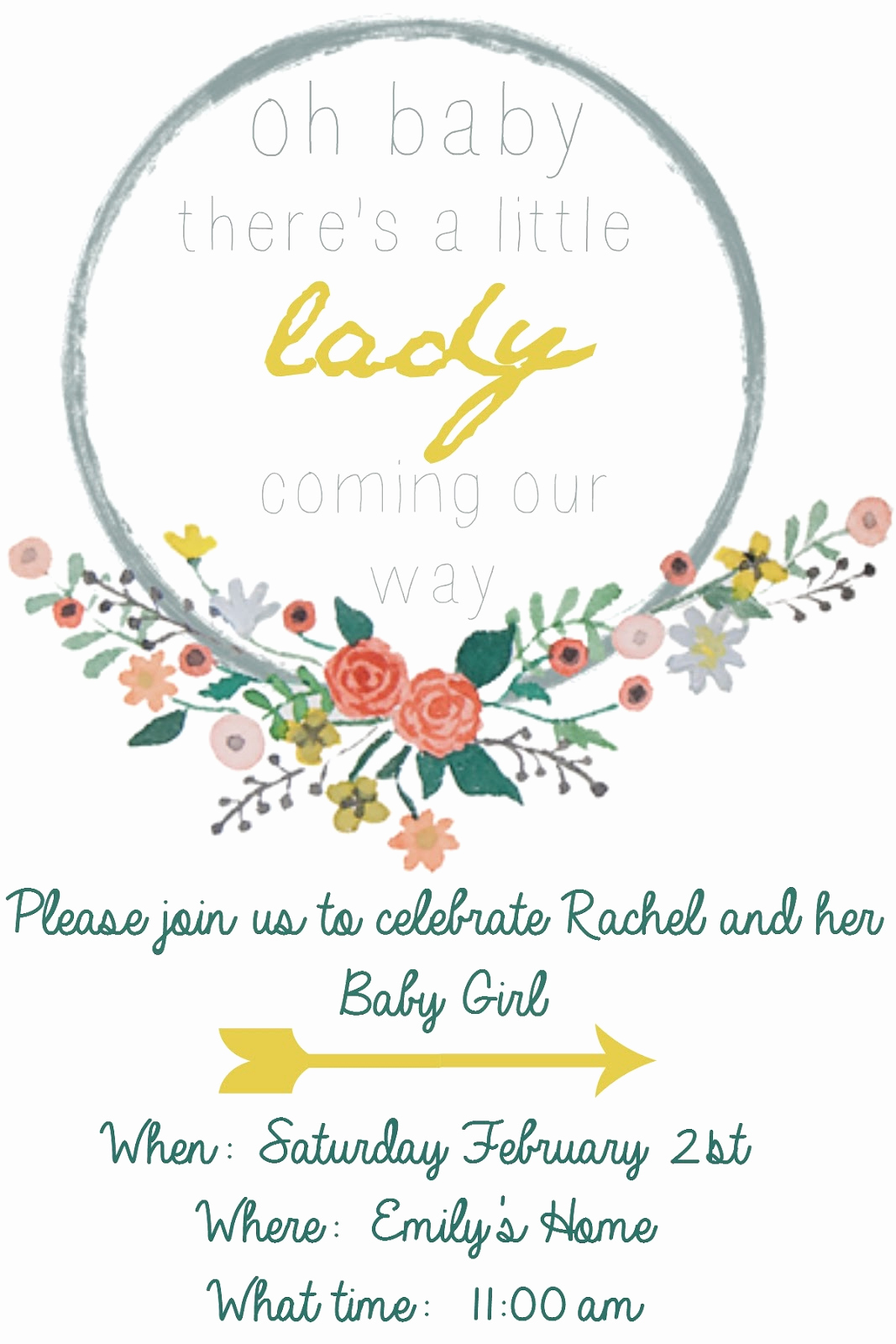 Free Baby Shower Invitation Templates Beautiful Emmy In Her Element Free Baby Shower Invitation Template