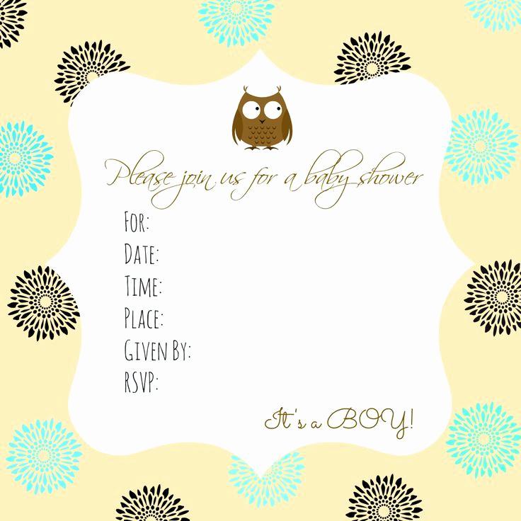 Free Baby Shower Invitation Templates Inspirational Best 25 Free Baby Shower Invitations Ideas On Pinterest