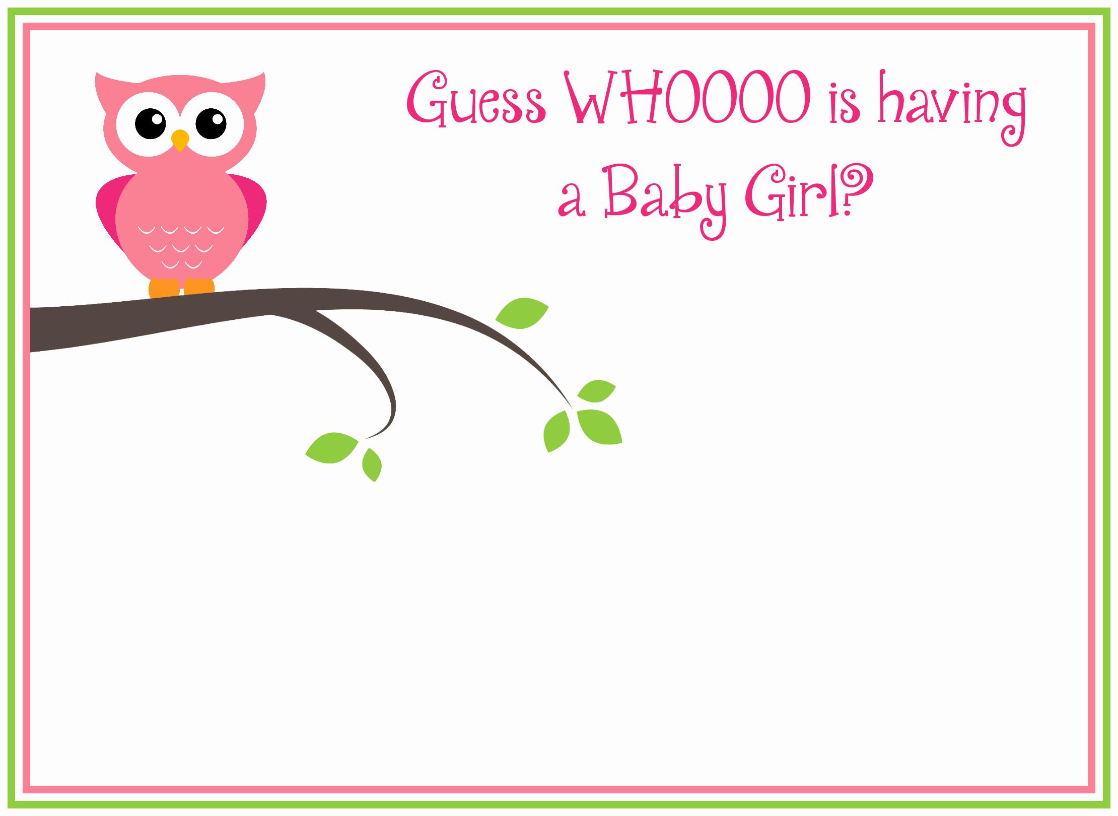 Free Baby Shower Invitation Templates Inspirational Free Printable Girl S Owl Baby Shower Invitations