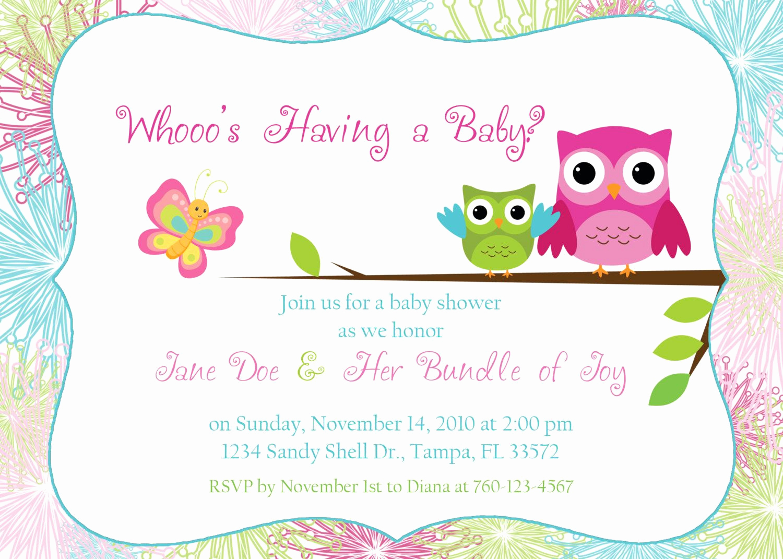 Free Baby Shower Invitation Templates Unique Owl Baby Shower Invitation by Designsbyoccasion On Etsy