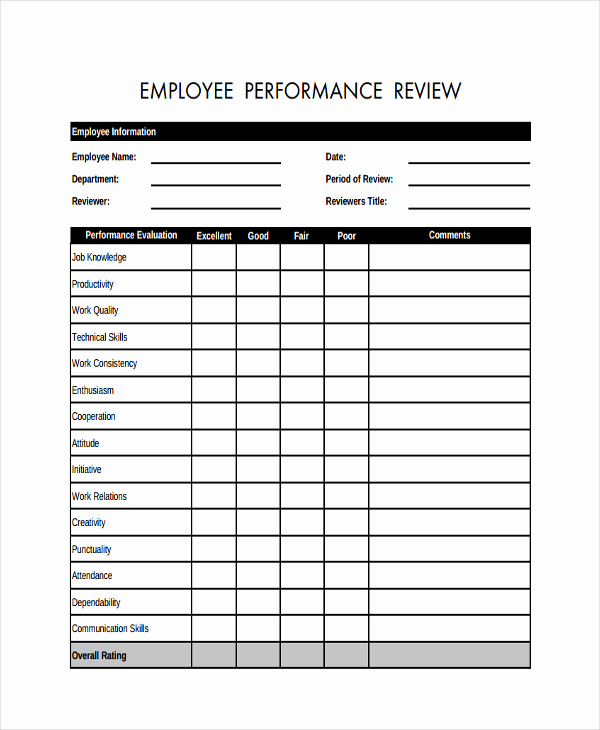 image regarding Employee Review Forms Free Printable identified as 30 Absolutely free Staff Investigation kinds Printable Tate