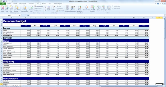 Free Excel Budget Template Elegant Free Personal Bud Template for Excel