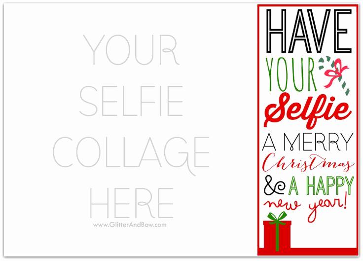 Free Photo Christmas Card Templates Beautiful Diy Printable Selfie Christmas Card Template