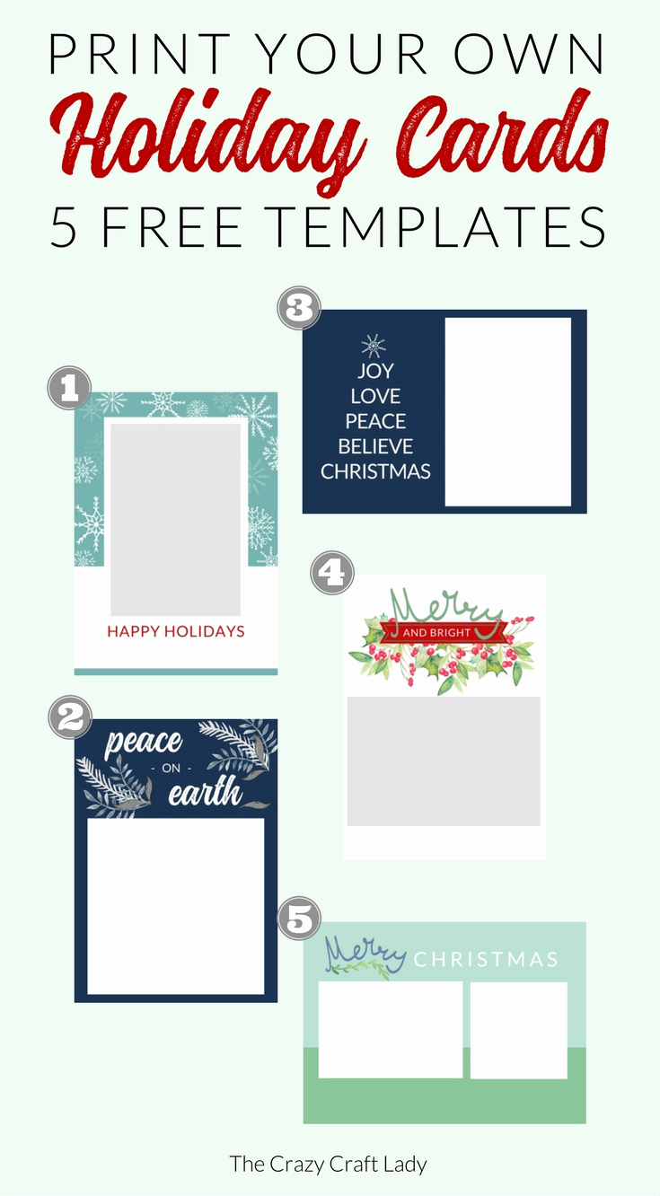 Free Photo Christmas Card Templates Luxury Free Christmas Card Templates the Crazy Craft Lady