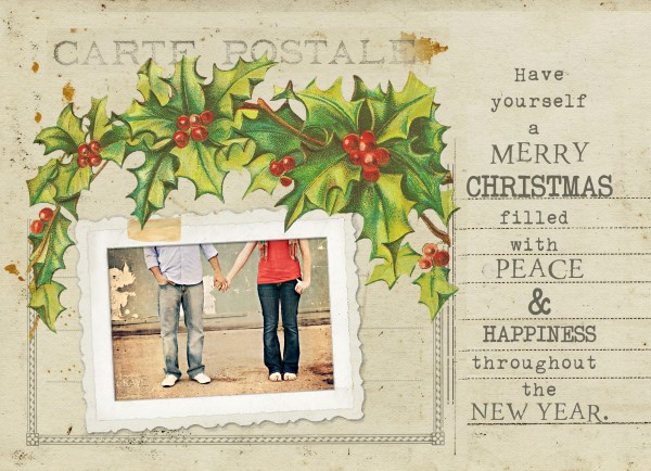 Free Photo Christmas Card Templates Luxury Free Vintage Holiday Card Template