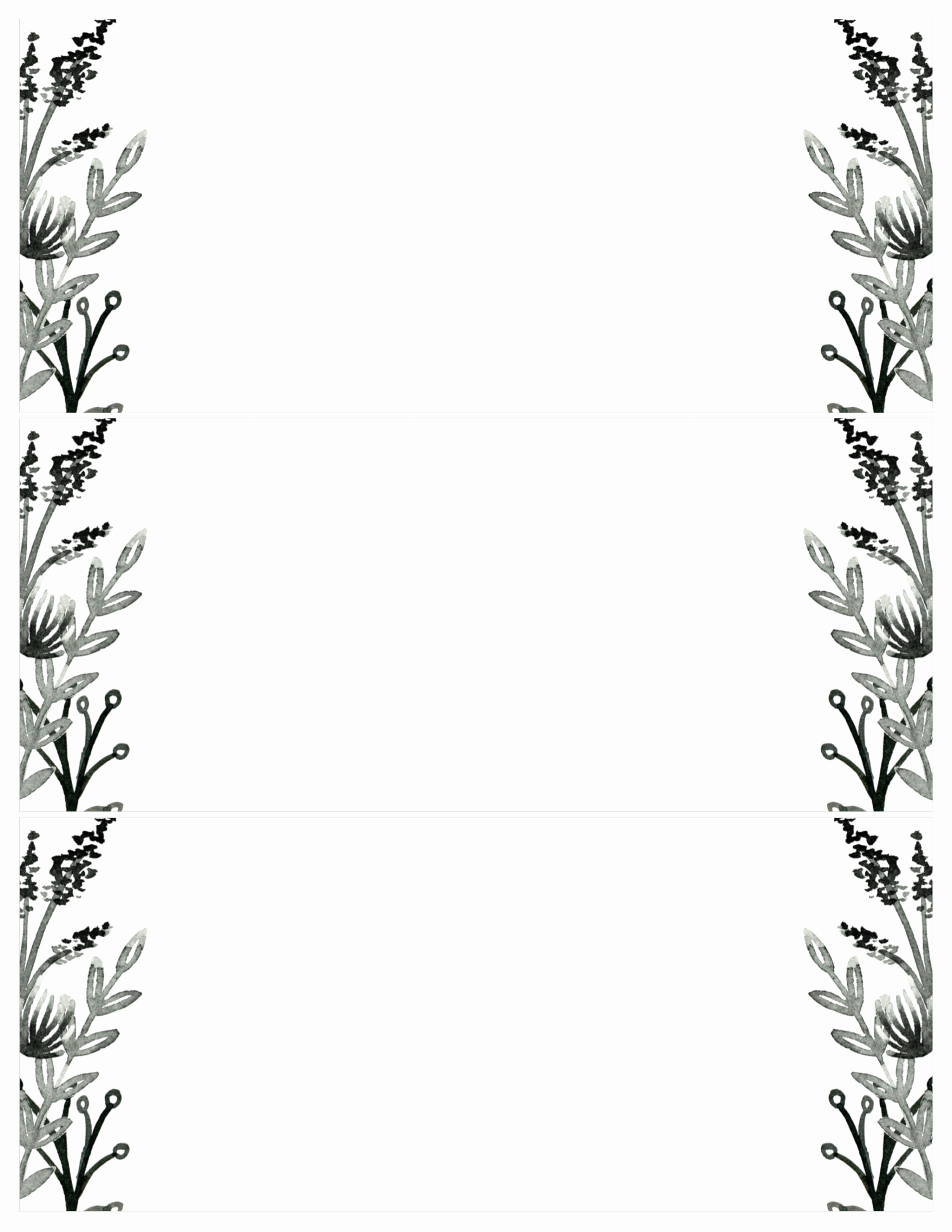 Free Printable Invitations Templates Lovely Black White Flowers Invitations Templates Free Printable