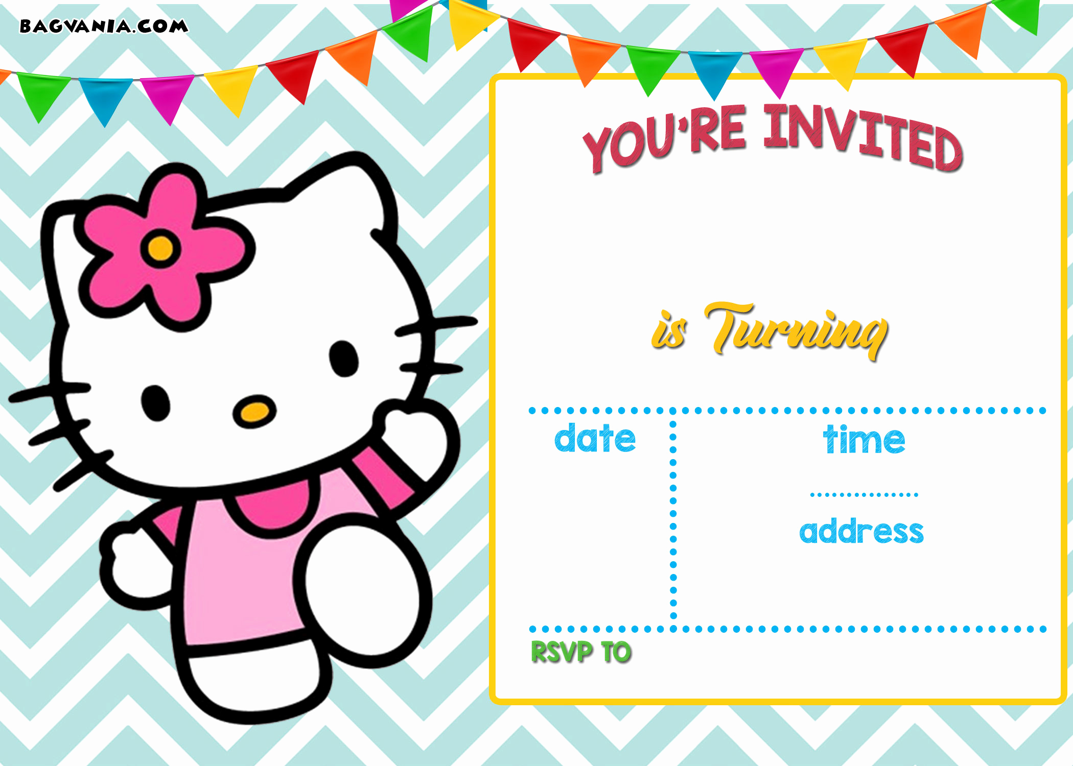 Free Printable Invitations Templates Lovely Free Personalized Hello Kitty Birthday Invitations