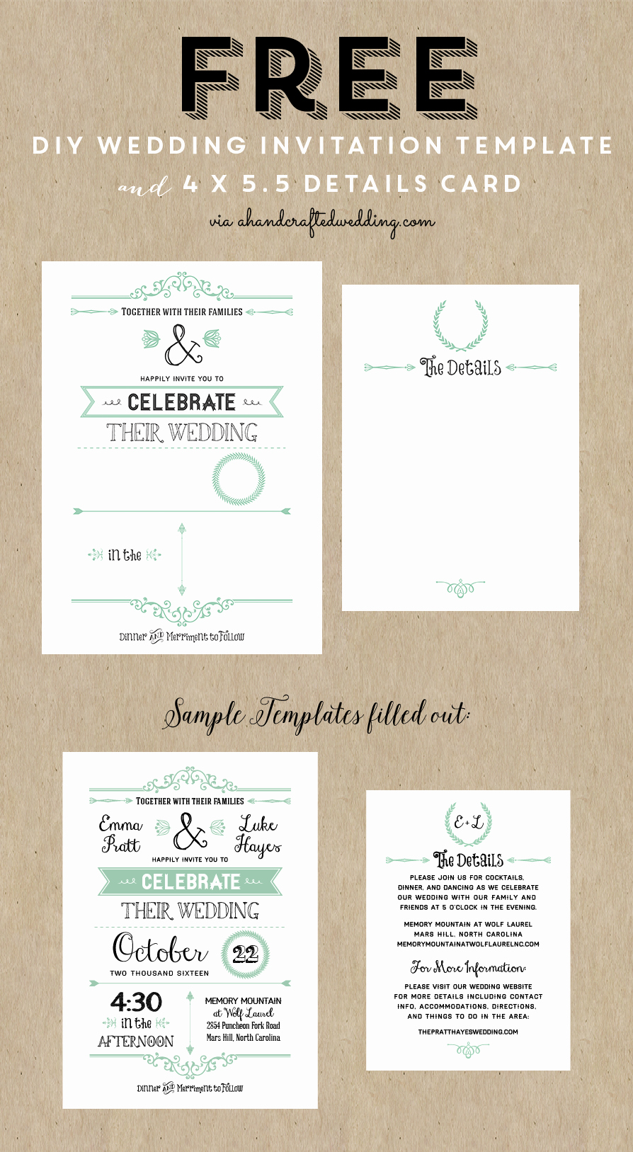 Free Printable Invitations Templates Lovely Free Printable Wedding Invitation Template