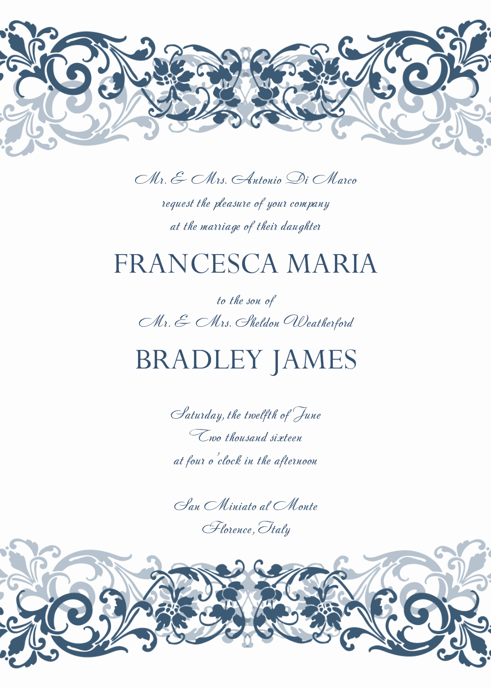 Free Printable Invitations Templates New 30 Free Wedding Invitations Templates