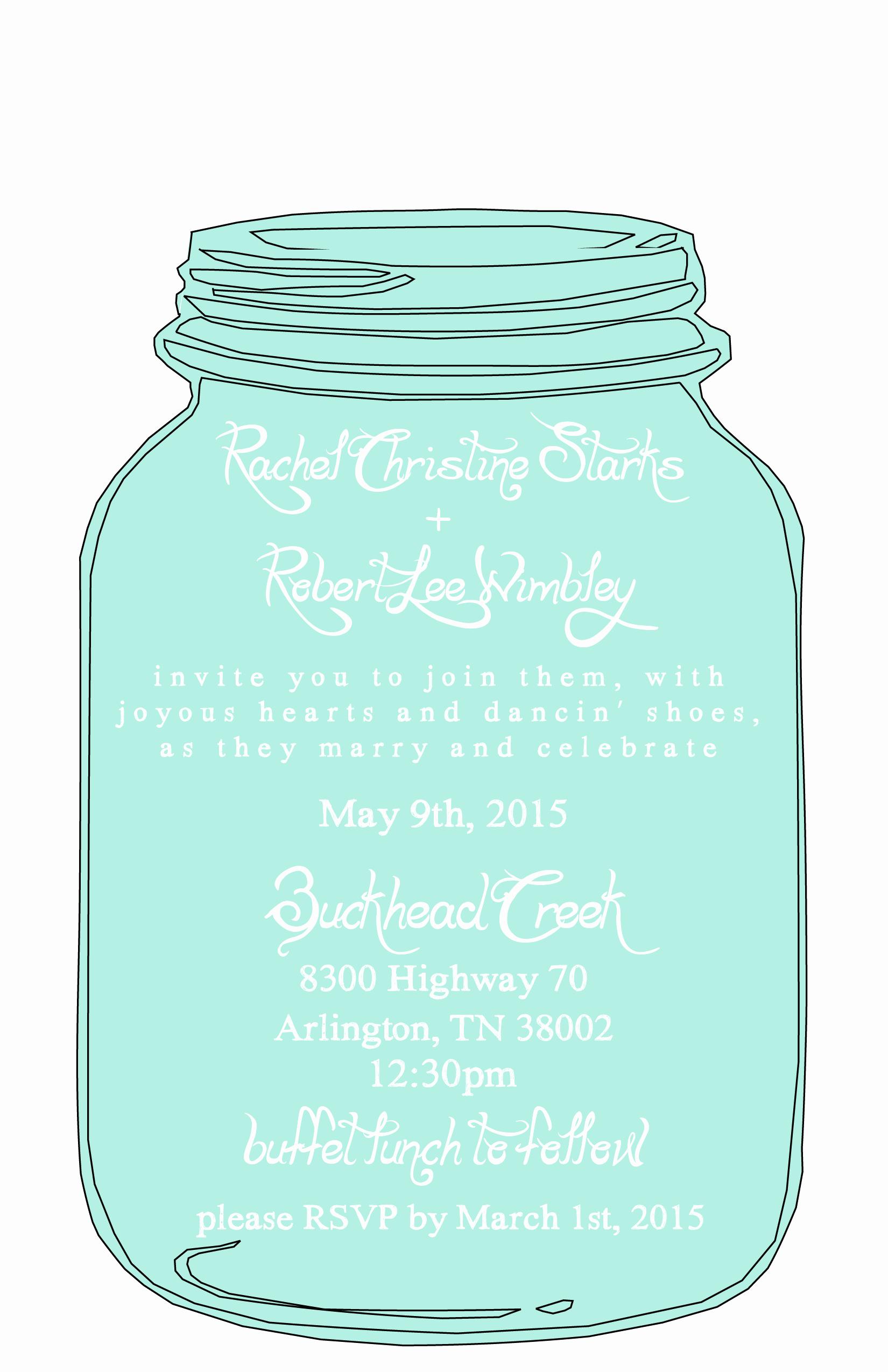 Free Printable Invitations Templates New Mason Jar Free Printable Wedding Invitations Templates