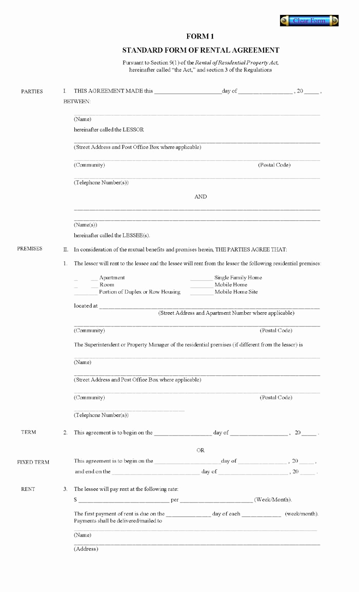 Free Printable Rental Agreement Awesome Printable Residential Free House Lease Agreement