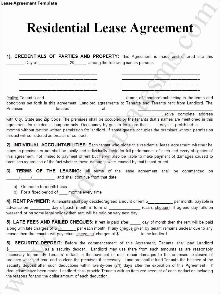 30 Free Printable Rental Agreement Tate Publishing News