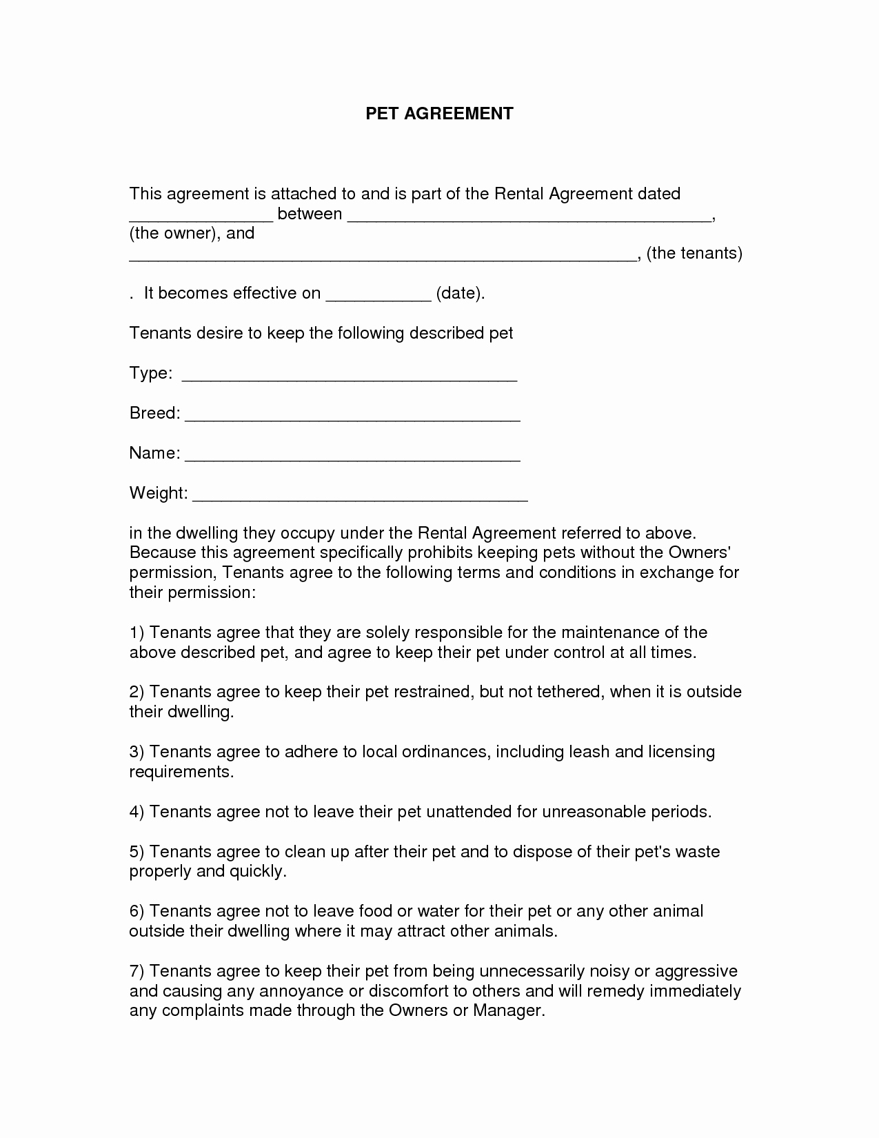 Free Printable Rental Agreement Fresh Free Easy Lease Agreement to Print