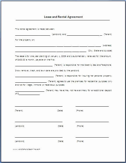 Free Printable Rental Agreement Lovely Renters Lease Agreement Real Estate forms