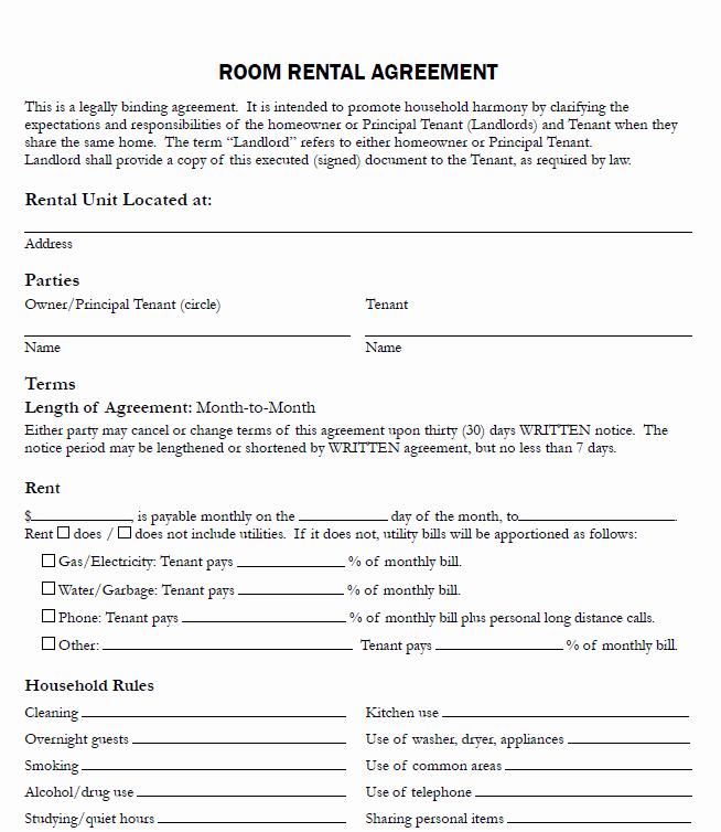 Free Printable Rental Agreement Luxury Free Printable Rental Agreements