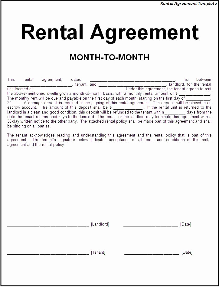 Free Printable Rental Agreement Luxury Printable Sample Simple Room Rental Agreement form