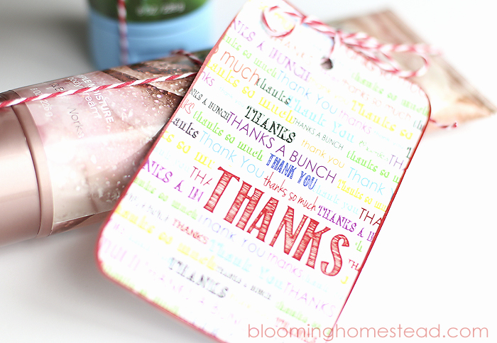 Free Printable Thank You Tags Awesome Free Printable Thank You Tags Blooming Homestead