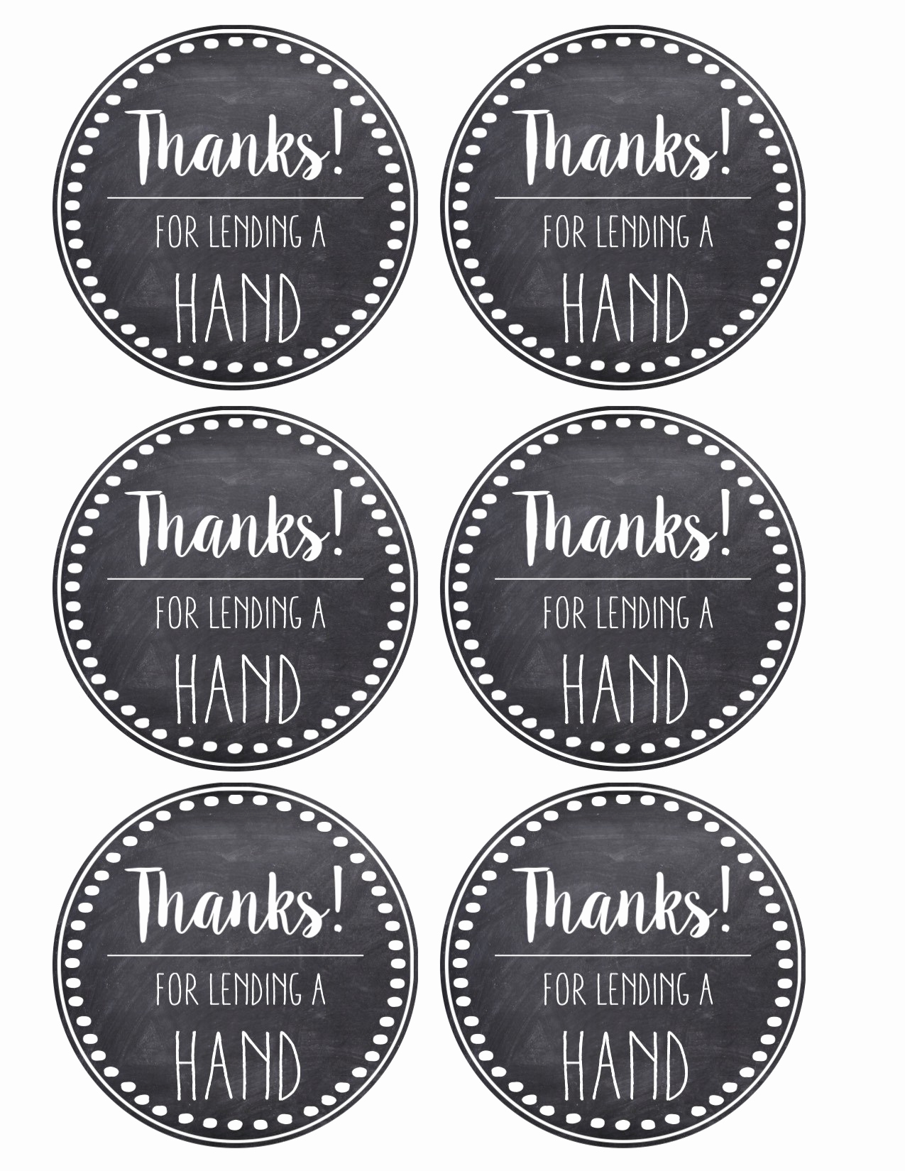Free Printable Thank You Tags Beautiful Thank You & Teacher Appreciation Tags Free Printable