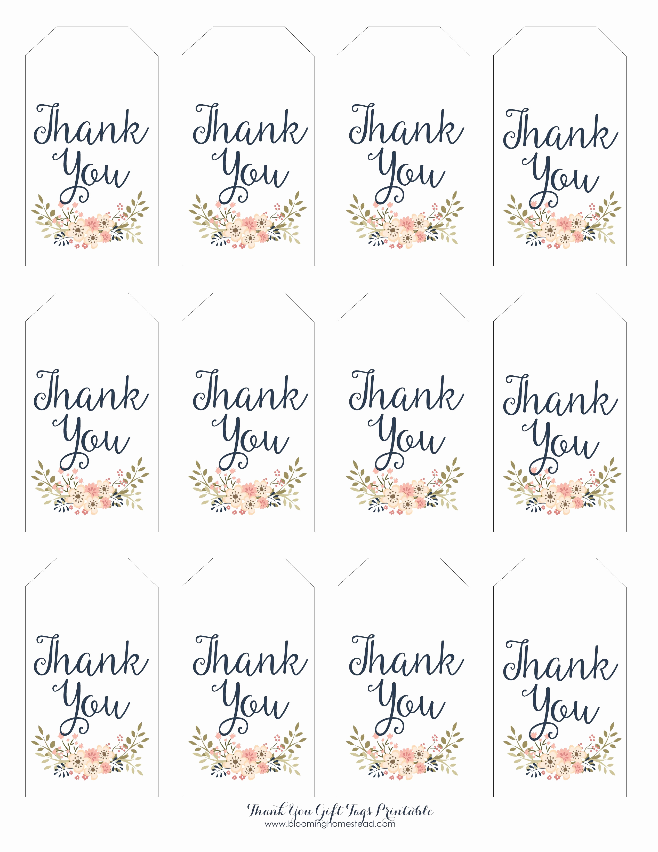 Free Printable Thank You Tags Beautiful Thank You Gift Tags T Ideas