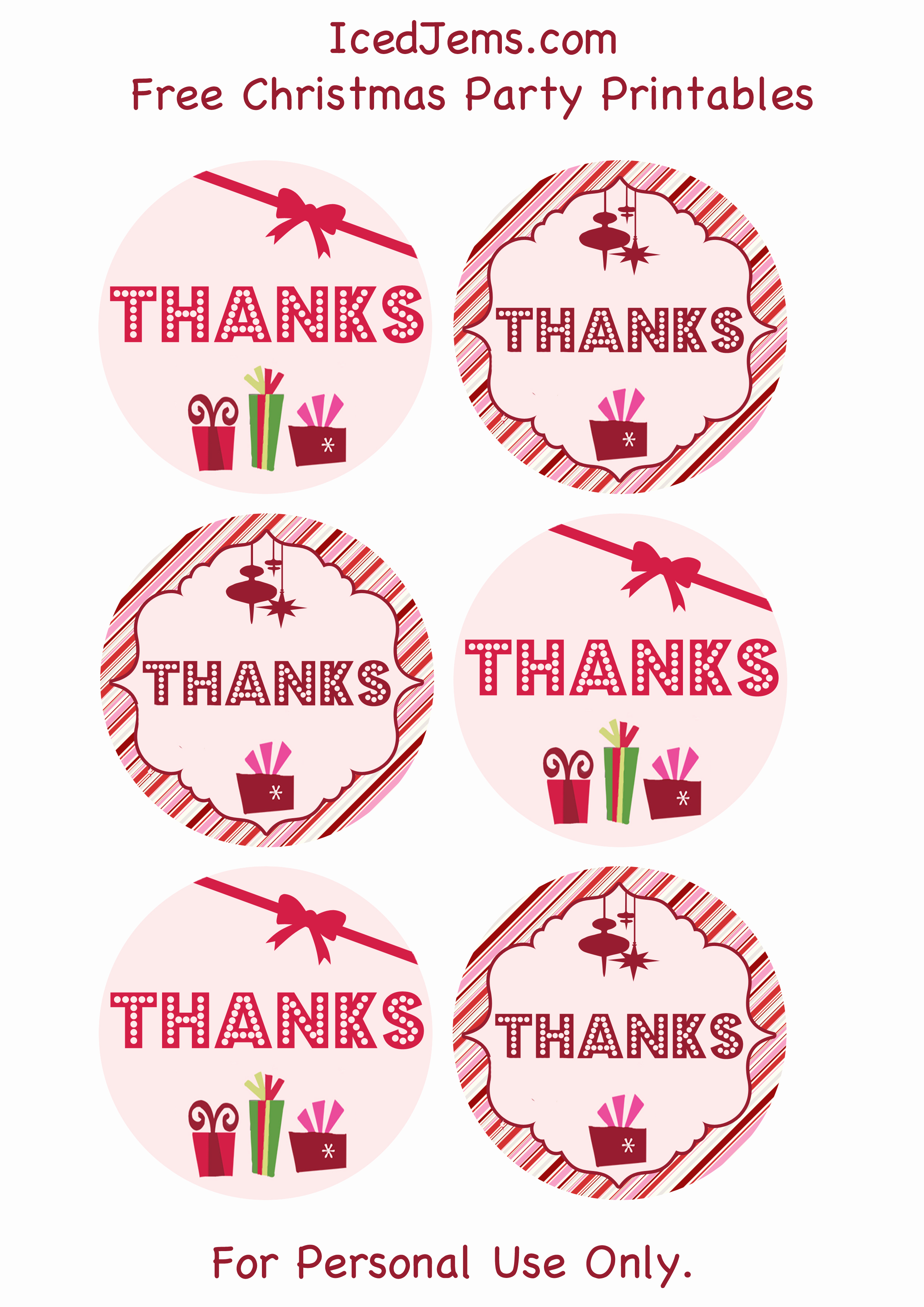 Free Printable Thank You Tags Fresh Free Christmas Party Printables