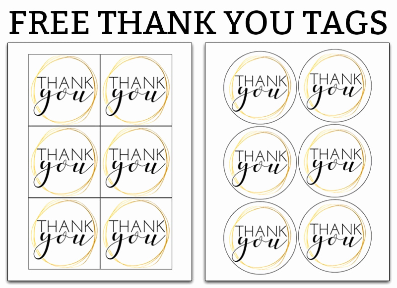 Free Printable Thank You Tags Fresh Printable Thank You Tags