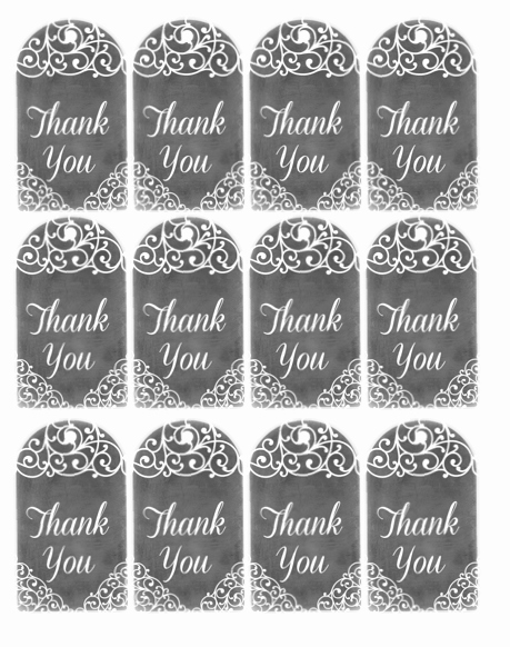 Free Printable Thank You Tags Inspirational Free Thank You Tags Free Printables Pinterest