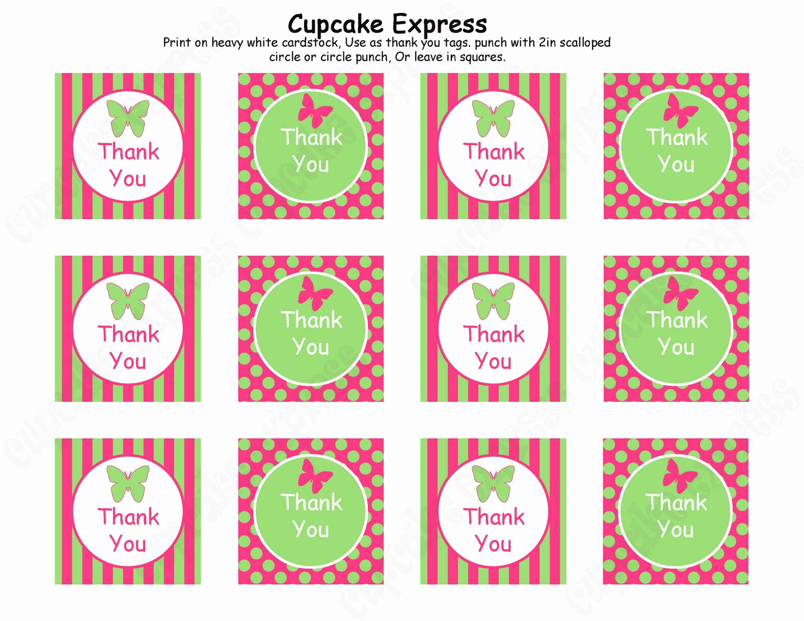 Free Printable Thank You Tags Lovely Cupcake Express First 10 Customers to Follow My Blog Will